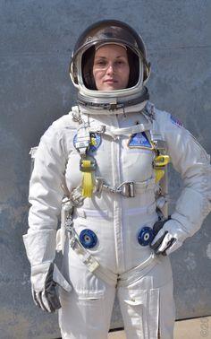 Andrea Van Epps models the Wonderworks LEO spacesuit