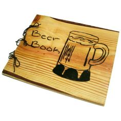 Large Beer Book Notebook  Wooden Brew Log by BillsWoodenPleasures, $40.00 #beer #men #gifts #christmas #mancave #brewing