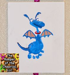 Trendy Disney Art Projects For Kids Footprint Crafts Ideas Fingerprint Art, Painting For Kids, Baby Art, Toddler Art, Fairy Tale Crafts, Toddler Art Projects, Disney Art, Dragon Crafts, Footprint Art