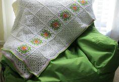 Cobija tejida a crochet
