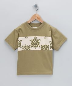 Coconut Creations Green Turtle Patch Tee (24 cotton)