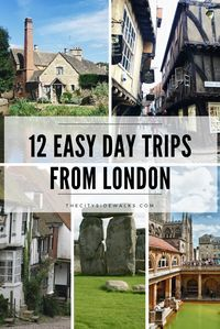 """If you're lucky enough to have more than a few days to spare while traveling in London, you might want to consider taking a day trip to explore some other destinations nearby. Get some """"destination inspiration"""" with these 12 day trips from London that are all easily accessible by train, bus, or plane!"""