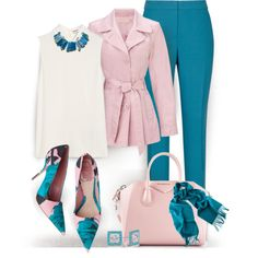 A fashion look from May 2014 featuring white blouse, belted coat and sexy pants. Browse and shop related looks. Dressy Outfits, Mode Outfits, Chic Outfits, Fashion Outfits, Womens Fashion, Fashion Trends, Mode Hijab, Complete Outfits, Business Outfits