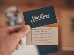 Nick Reese Cards by Brave People