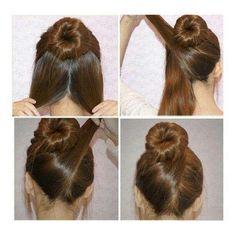Bun hair do step by step