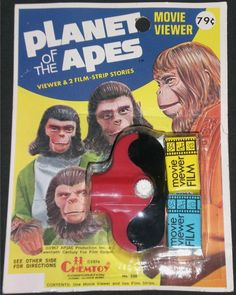 Rare 1974 Planet of the Apes Movie Viewer Carded Toy Retro Toys, Vintage Toys, Planes Movie, Scary Films, Revolution, Toys In The Attic, Space Toys, Super Secret, Film Strip