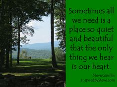 Sometimes all we need...  Thanks to Steve Gamlin for posting this... great quote Steve.  Thanks.  jg