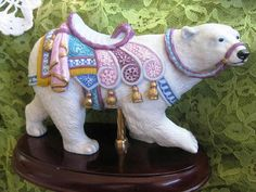 1991 Lenox Carousel Polar Bear Collectible by ChinaGalore on Etsy, $195.00