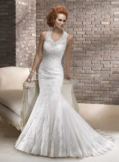 733cf8eb9f123 Fashion Mermaid Illusion Neckline Satin Wedding Dress WD-3037 Pnina Tornai