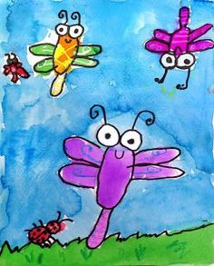 This super simple bug painting is great for really young artists. You can't get much simpler or cuter that this. … Read More The post Super Simple Bug Painting appeared first on Art Projects for Kids. Kindergarten Art Projects, School Art Projects, Projects For Kids, First Grade Art, Spring Art Projects, Creation Art, Bug Art, Ecole Art, Insect Art