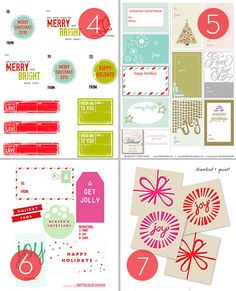 Roundup: 25 Free Printable Holiday Gift Tags #Christmas #free #printable
