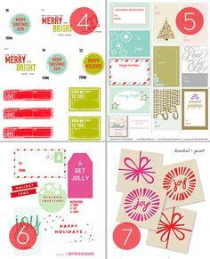 Roundup: 25 Free Printable Holiday Gift Tags #Christmas #free #printable