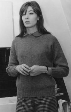 From The Netherlands loves vintage and/or shabby chic,Rufus Sewell and the Royal Family of French music Jacques Dutronc,Françoise Hardy and Thomas Dutronc French Pop, French Girl Style, Librarian Chic, Anna Karina, Francoise Hardy, Sweaters And Jeans, Her Style, Pretty People, Style Icons