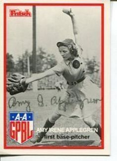 Amy Applegren Rockford Peaches AAGPBL Signed Photo Card Minnesota Twins Baseball, Baseball Girls, Sports Baseball, Baseball Stuff, Baseball Uniforms, Baseball Tickets, Baseball Savings, Rockford Peaches, Negro League Baseball