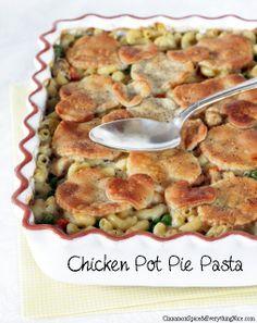 Baked Chicken Pot Pie Pasta
