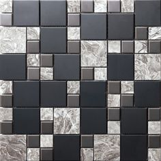 Stainless steel mixed with marble mosaic tile