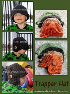Ravelry: The Trapper Hat pattern by Lisa Dean