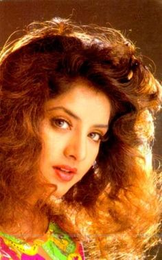 The late bollywood actress Divya Bharti Most Beautiful Bollywood Actress, Bollywood Actress Hot Photos, Beautiful Indian Actress, Beautiful Actresses, Classic Actresses, Indian Actresses, Actors & Actresses, Indian Celebrities, Bollywood Celebrities