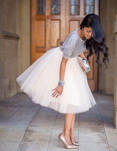 "Clarisa 7-Layered Tulle Puffy Princess Knee-Length Tutu Skirt - Length 19.5"" on Etsy, $49.00"