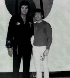 Elvis and Bruce Lee! Wow! Did not know this existed. Awesome!