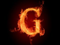 The fiery English alphabet picture G - Resolution 1920x1440 - 73621