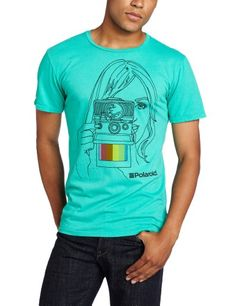 Altru Men's Polaroid Girl Slim Fit Graphic Tee, Billiard, Small. From #Altru. Price: $36.00