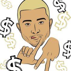 $ $ $ #mineportraitapp #mine #portrait #app #losangeles #celebrity #money #fashion #boy #mens #handsign