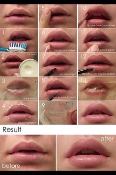 Diy Lip Plumper ideas makeup kylie jenner make up fuller lips Big lips and ash hair tone Quick Makeup, Diy Makeup, Makeup Tips, Makeup Ideas, Simple Makeup, Makeup Products, Nail Ideas, Natural Lips, Natural Make Up
