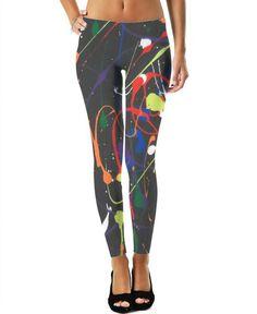 Splash art leggings great colors