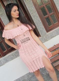 Celeida Ribeiro: Vestido ciganinha em crochê!
