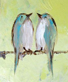love birds in blue