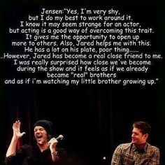 Jensen Ackles and Jared Padalecki - it is so nice to know that they also have a strong friendship in real life