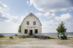Bungenas, a remote peninsula on the tip of Gotland, has been transformed into a summertime playground, sporting a restaurant and a performance space. Places Around The World, The Places Youll Go, Around The Worlds, Waterfront Restaurant, Sweden Travel, Draw On Photos, Small Buildings, Bushcraft, Ny Times