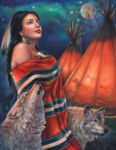 Photo: By: Gloria West  Website: http://www.porterfieldsfineart.com/GloriaWest/legendofthewolfmaiden.htm   ® Legend of the Wolf Maiden®