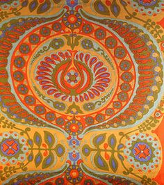 60s 70s Vintage Heals Barkcloth Fabric FQ Pageant - Jyoti Bhomik- Camper Van A | eBay