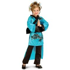 Teal Dragon Child Costume in from Costume Express on shop.CatalogSpree.com, your personal digital mall.