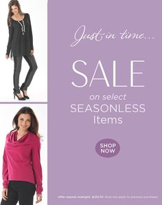 Up to 20% Off selected, seasonless items from our tall clothing collection. Lots of wardrobe essentials to choose from: http://www.longelegantlegs.com/tall-season-less-items #sale #discount #clothing