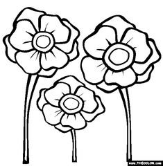 Free Printable Poppy Remembrance Day Craft With Printable Template - Poppies to remember coloring page