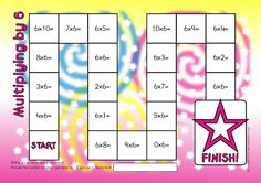 Multiplying by 6 Board Game (SB114448) - SparkleBox