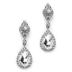 Mariell Clip-On Earrings with Crystal Teardrop Dangles - ... http://www.amazon.com/dp/B01DL2GOQC/ref=cm_sw_r_pi_dp_O-4gxb0CMDQVN