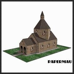 Miniature Church Free Building Paper Model Download - http://www.papercraftsquare.com/miniature-church-free-building-paper-model-download.html
