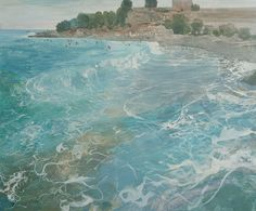 Ruth Stage NEAC, Beach life Croatia  To be exhibited at the New English Art Club Annual Exhibition 2015