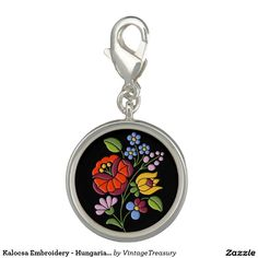 Kalocsa Embroidery - Hungarian Folk Art motif Charms
