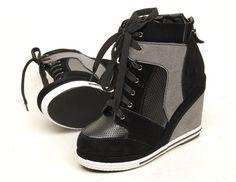 High Leg Girl Tenni Shoes | Women Wedge High Heels High Top Sneakers Tennis Shoes Boots