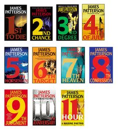 Currently on book 11... WOMEN'S MURDER CLUB Series by James Patterson...   details here on what each book is about.   http://www.jamespatterson.com/books_wmc.php#.URfVyKVX3N0