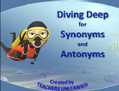 Free on TpT 3rd Grade: Diving Deep for Synonyms and Antonyms