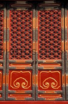 Ornate Red Doors China Doors that will bring you to a place of peace with your past present and future. & oriental | Doors ? Windows ? Entries ? Türen und Fenster | Pinterest ...