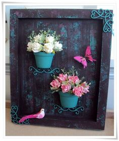 Decoupage Vintage, Wood Crafts, Diy And Crafts, Arts And Crafts, Decor Crafts, Craft Projects, Projects To Try, Deco Floral, Country Crafts