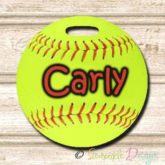 Softball Personalized Bag Tag by SourpickleDesigns on Etsy Softball Crafts, Girls Softball, Softball Stuff, Softball Pictures, Team Mom, Baseball Gifts, Just A Game, Customizable Gifts, Sports Mom