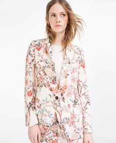 Image 1 of LONG PRINTED JACKET from Zara